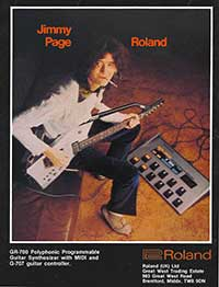 Led Zeppelin Guitarist Jimmy Page and the Roland GR-700 Analog Guitar Synthesizer