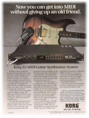 Korg Z3 VIntage FM Guitar Synthesizer System