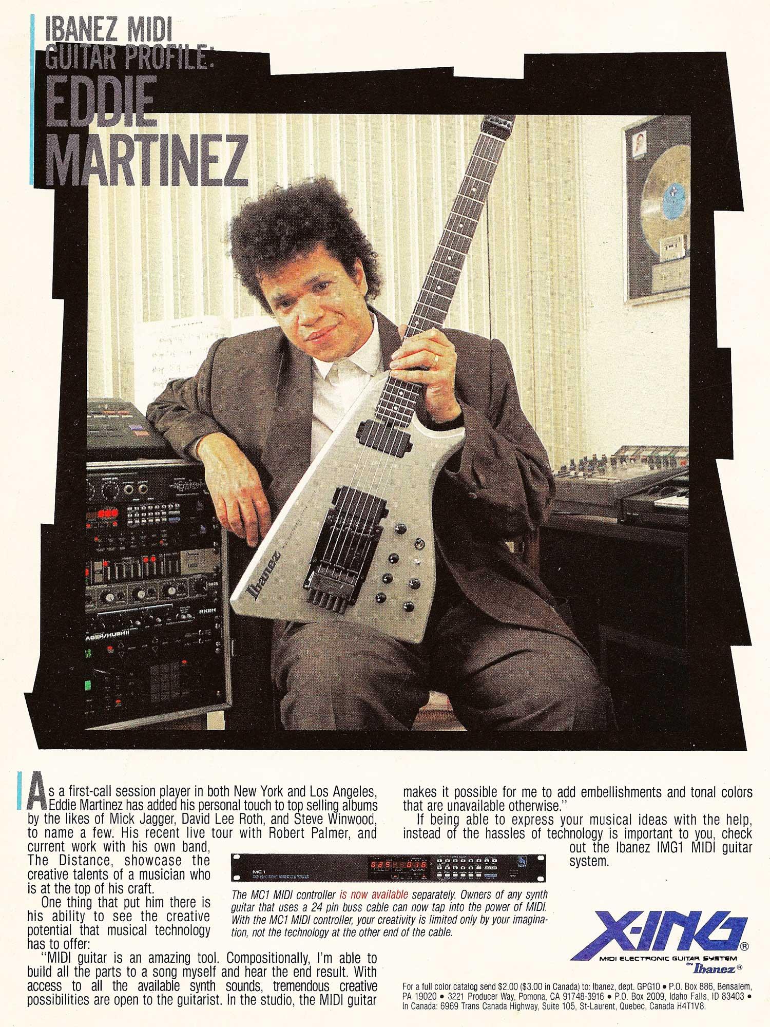 Ibanez MC1 Guitar-to-MIDI Pitch-to MIDI Converter