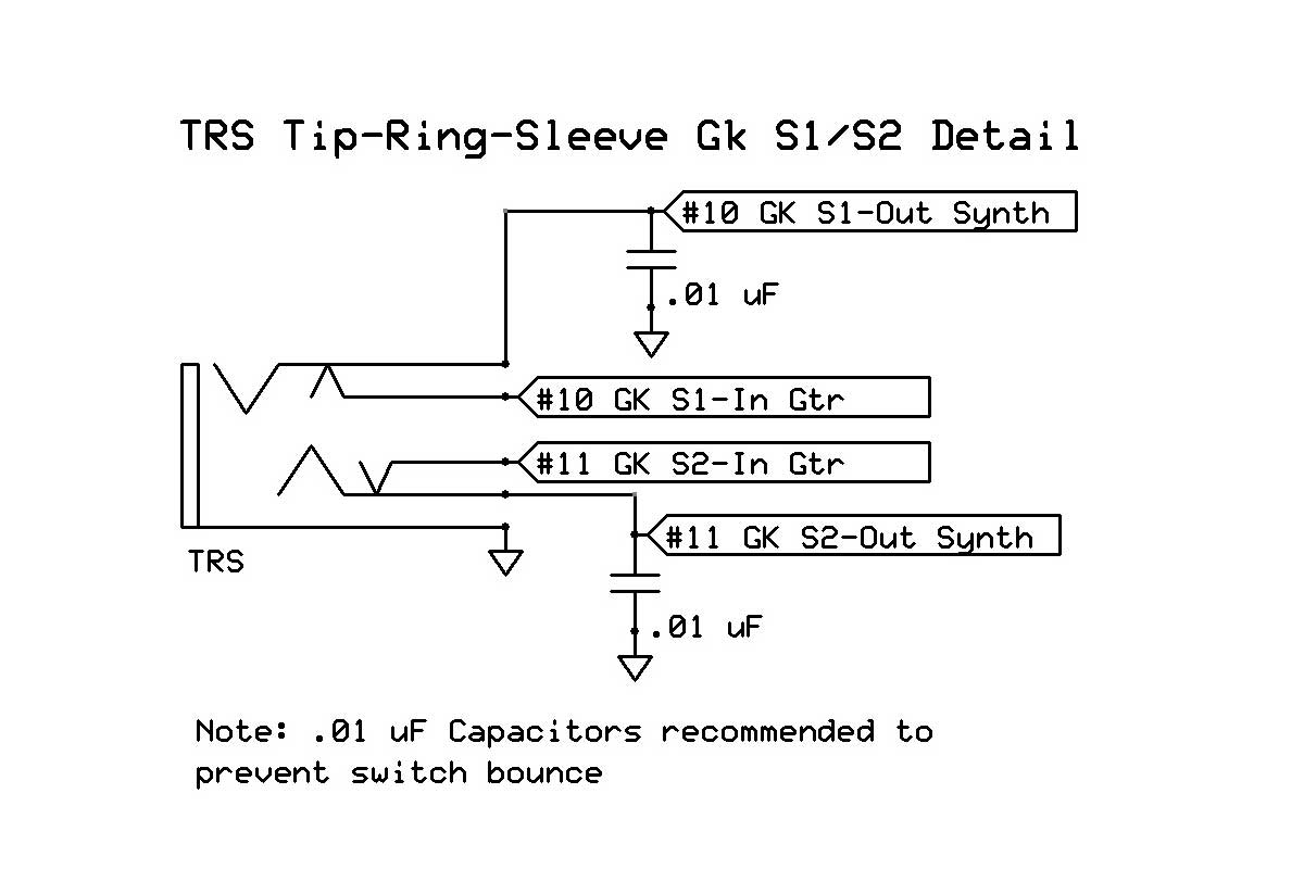 Gk Quadboard Roland Gkp 4 Clone With User Exapndability And Synthesizer Wiring Diagram Trs Schematic