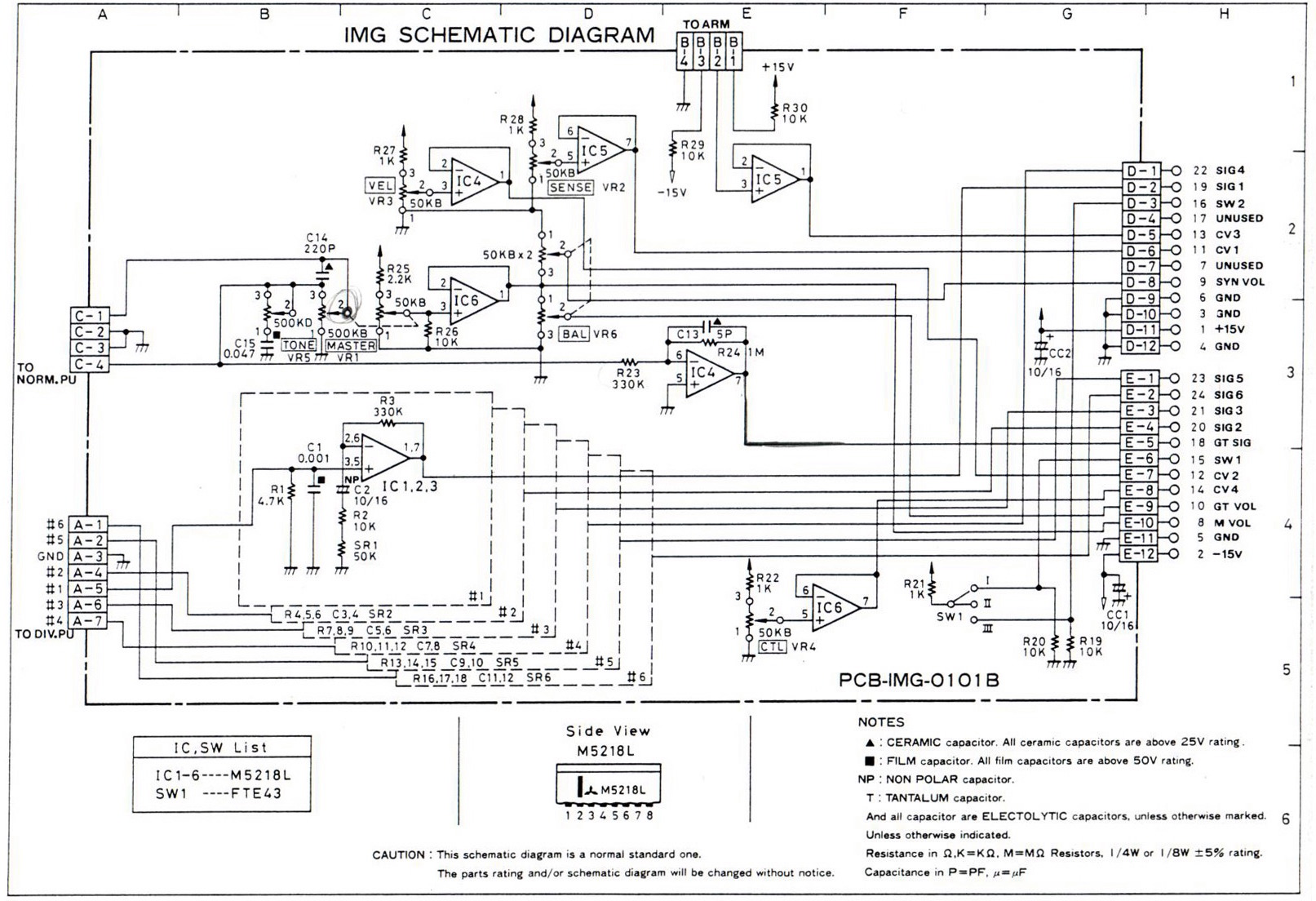 ibanez 2010 x ing midi guitar synthesizer controller the 2010 schematic